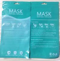 Stokta Maskeli Ambalaj Torbaları Fermuar Opp Torba Perakende Ambalaj Torbaları İngilizce Saydam Plastik Kilitli Çanta Maskeleri için GGA3448-8