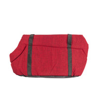Lätt husdjursbärare katt / hund komfort svart resväska steg röd m