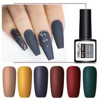 Gel de uñas LEMOOC 8ML MATE COPA TOP COLOR UV Polaco semi permanente Off Off Barniz Pintura de arte para las uñas Manicure