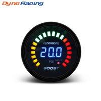 """Dynoracing 2 """"52mm 20 LED Mavi Dijital-15-45 psi Turbo Boost Ölçer Araba Metre Sensörü Ile BX101451"""