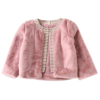 Cute Baby Girls Coat Autumn Winter Outerwear Tops Kids Jacke...