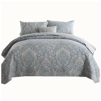 Baumwolle amerikanisches Europa gesteppte Bettdecke Bettdecke Decken Bettdecke Bettdecken Quilt Bettwäsche Pillowcase King-Size-Bettwäsche-Sets luxuxry gesetzt