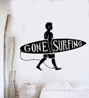NUOVO Sport Serie Adesivo Surf Guy Surf Beach Surfer Wall Sticker Vinyl Art Design Murale Casa decorazione camera da letto
