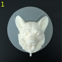 Pet Dog Lollipop Schokoladenform - Food Grade DIY Silikon Hunde Tier Kuchen Dekoration Seife Fondant Puddingform Sugarcraft