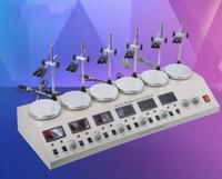 6 Kafaları Çok birim birimleri Dijital Termostatik Manyetik Karıştırıcı Ocak Gözü mikser 110 V veya 220 V