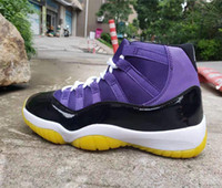2019 nuevas zapatillas de baloncesto Black Purple Grape 11s con 45 11s High Top Sneakers talla 7-13