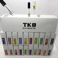 TKO Ceramic Vape Cartridges 0.8ml Empty Vape Penne Vaporizzatore Carrelli 510 Oil Cartridge E sigarette Atomizzatori con biscotti Flavor Box Packaging