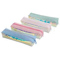 4styles 레이저 연필 케이스 가방 펜 문구 저장 연필 가방 아이 학생 선물 다채로운 투명 사무실 학교 용품 FFA2648