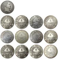 Francia 5 Francos 1812A-W 12pcs diferente Marca de ceca para eligió plateado plata monedas de la copia
