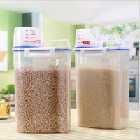 Garrafas de armazenamento frascos organizador de cozinha cereal recipiente arroz grão bean copo de medição caixa selada caixa de silicone tanque