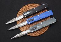 새로운 D 로켓 디자인 자동 전술 나이프 D2 새틴 더블 액션 스피어 포인트 블레이드 T6061 핸들 EDC 포켓 나이프 선물 나이프