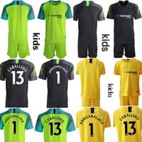 Custom England Club Kids 2019 2020 حارس المرمى أطقم كرة القدم 13.Caballero 1.arrizabalaga الشباب Junior Soccer Jerseys Camisa de Futbol