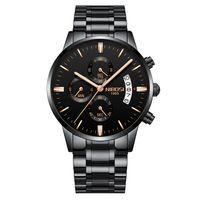 NIBOSI hombres relojes Top marca de lujo cronógrafo hombres relojes deportivos impermeable de acero completo de cuarzo reloj de los hombres Relogio Masculino