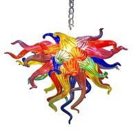 Современные светодиодные люстры Multi Color Blown стекло промывочное крепление люстра светло-арт деко цепи подвеска освещение гостиной мебели - л