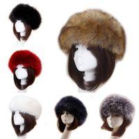 Unisex Dicke Faux Gefälschte Pelzkopfbekleidung Euramerican Winter Ohr Warme Skihut Plüsch Kopf Haarbänder