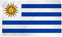 Freies verschiffen großhandel neupreis 100% Polyester 90 * 150 cm 3x5 fts URY UY uruguay flagge für dekoration