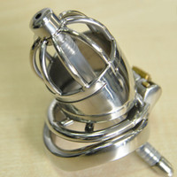 Male Metal Chastity Device Catheter Cock Cage Magic Locker D...