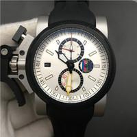 Chronofighter Oversize Relógios Os britânicos Mestre Men Watch 47 milímetros Chronograph Movimento Quartz Relógio de pulso para o presente Big pulso