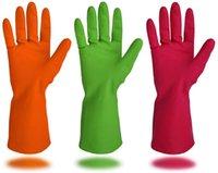 Cleanbear الاصطناعية قفازات مطاطية والمتوسطة الحجم، 11.8 بوصة، 6 أزواج 3 ألوان