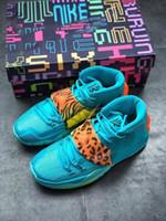 Melhores vendas sapatos 6 Vast Cinza 6 a Oracle do Aqua Troféus Grade escola basquete com caixa de alta qualidade Irving 6 Khepri sneakers livres s transporte