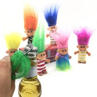 8cm Colourfull Hair Troll Doll Leprocauns Dam Troll Adult To...