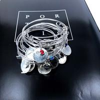 Réglable Bangle fil d'acier Le meilleur ami de cadeau d'anniversaire de naissance de souhaits Charms Bracelet pour femmes Bracelet X282
