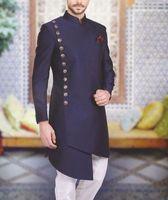 Homens árabes Suits Collar Stand Back Vent Fit Fit Fit Mens Casamento Homens Formal Negócios Tuxedo Blazer Jaqueta Homens 2 Parte Casaco + Pant