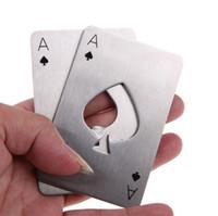 Apribottiglie in acciaio inossidabile Apribottiglie Poker Carta da gioco di picche Soda Apribottiglie Strumenti per bar Accessori da cucina Regalo creativo