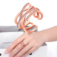 c6ae1d61f New Arrival. 2019 Rose Gold Plated Ring & 925 Sterling Silver Plated Ring  Rose Entwined European Pandora Style Jewelry Charm Ring ...