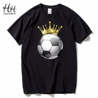 HanHent Summer Crown Footballer Casual T-shirt uomo manica corta in cotone O-Collo maglietta stampa re Streetwear Tee shirt
