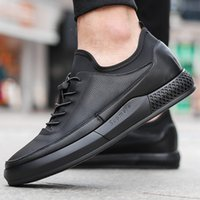 2020 New Spring Chaussures Hommes Version Coréenne de Chaussures Hommes Casual Chaussures Chaussures respirantes-Style cuir faible Top Coton