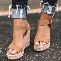 Wenyujh Été Ultra Hauts Talons De Mode À Bout Ouvert Plate-Forme Ascenseur Femmes Sandales Chaussures Plus La Taille Pompes 2019 Y190704