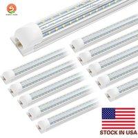 V 형은 T8 LED 튜브 2 4 6 8 피트 LED 형광등 120W 8피트 플렉스 행 LED 라이트 튜브 냉각기 도어 조명 통합