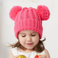 Baby Pom Winter Hat Cap Scarf Fur Baby Hat Cap Cotton Pompom...