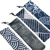أواني الطعام قماش حقيبة التخزين المحمولة أدوات المائدة الرباط السفر حقيبة حمل لسترو أدوات المائدة ملعقة حقيبة جيد