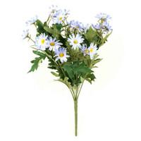 Flores de seda simulação artificial de alta qualidade crisântemo margarida tecido tissue feito à mão decoração de casamento