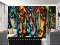 Özel boyut 3d fotoğraf duvar kağıdı oturma odası yatak odası duvar Picasso 3d yağlıboya resim kanepe TV zemin duvar kağıdı dokunmamış duvar sticker