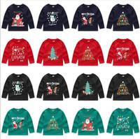 أطفال مصمم ملابس عيد قميص هوديس عارضة معطف الأزياء جاكيتات طويلة الأكمام أبلى سوياتشيرتس البلوز البلوز القمم a6011