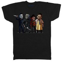HALLOWEEN SCREAM VENERDÌ 13 ° FILM FILM HORROR CHUCKY FREDDY CARTOON T SHIRT jersey Stampa t-shirt Camicie di marca jeans Stampa