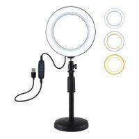 3.5-4.7Inch عكس الضوء LED سطح المكتب الدائري الخفيفة مع حامل كاميرا Ringlight على يوتيوب فيديو لايف اطلاق النار صور الصور الشخصية للاستوديو التصوير