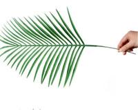 Поддельный Большой пальмой Искусственные тропических пальмовых листьев Поддельные завод листьев зеленый Зелень для цветов Свадебная композиция Главная Party Decor LXL829Q