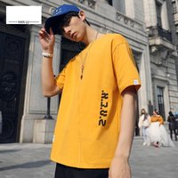 European and American fashion men' s short- sleeved T- shi...