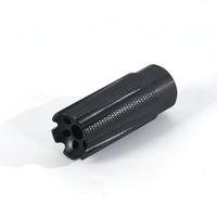 .223 5.56 1 / 2-28UNEF الأسود ShockWave التكتيكية منخفضة الارتجاج كمامة الفرامل مع جام البندق
