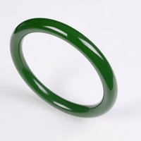 Hetian jade Jasper bracelet mince modèles féminins vieux épinards pit vert Kunlun vert jasper rond bracelet de jade livraison gratuite