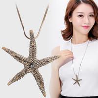 versione coreana del nuova lega di diamante stelle marine maglione catena collana tendenza selvatici lunga moda Abbigliamento accessories709
