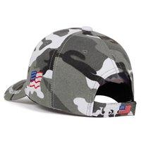Donald Trump 2020 Cap Camouflage Caps USA Bandiera Baseball Keep America Grande camo cappello del ricamo 3D Stella Lettera Camo dell'esercito di alta qualità hotsell