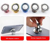 Soporte universal para coche, imán de metal, 360 grados, asiento de navegación magnético giratorio, nuevo soporte para teléfono magnético