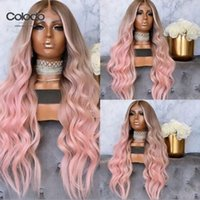 Perruques en dentelle Colodo 613 Perruque Perruque Présenté Rose Cheveux humains avec bébé Brésilien Remy Ash Blonde Ombre Front pour Femmes