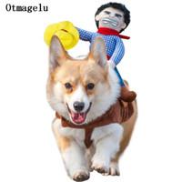 Engraçado Cão de Estimação Gato Trajes de Cachorro Roupas Roupas Para O Dia Das Bruxas Cosplay Western Cowboy Trajes de Equitação Jaqueta Manto Cão Acessórios