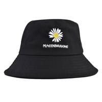 crisantemo pequeño sombrero cuenca femenina sombrero de pescador sombrero para el sol cuatro estaciones sombra salvaje pareja de moda 2020 de la moda